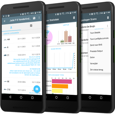 de Iphone en Android App voor leeftijd en documentcontrole